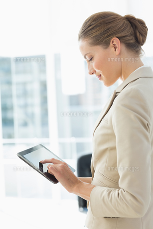 Beautiful businesswoman using digital tablet in officeの素材 [FYI00000070]