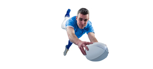 A rugby player scoring a tryの素材 [FYI00008680]