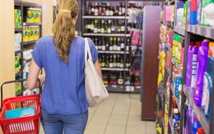 Rear view of woman doing shoppingの素材 [FYI00008867]