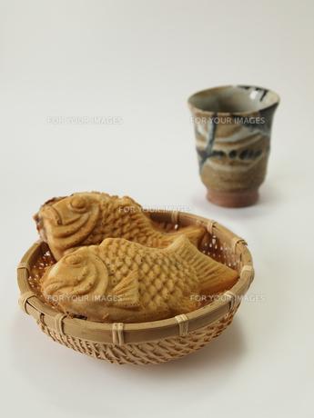 たいやきとお茶の素材 [FYI00108913]