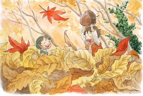 秋の小人の素材 [FYI00116764]