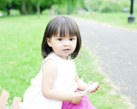 笑顔の可愛いハーフの少女の素材 [FYI00143165]