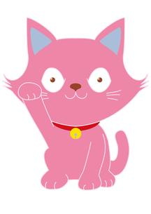ピンクの招き猫の素材 [FYI00205370]