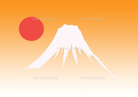 富士山の初日の出の素材 [FYI00280336]