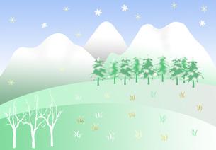 冬の雪景色の素材 [FYI00280390]