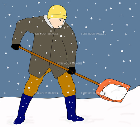 雪かき作業の素材 [FYI00280402]