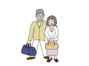 シニア夫婦のお出かけの素材 [FYI00280670]