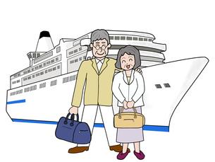シニア夫婦の船旅の素材 [FYI00280675]