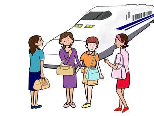 女子会で鉄道の旅の素材 [FYI00280682]