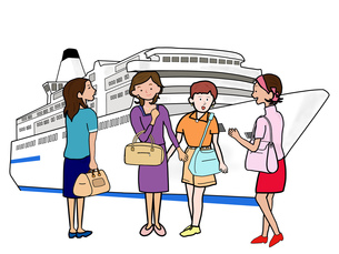 女子会で船旅の素材 [FYI00280694]