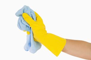 Hand using ragの素材 [FYI00486737]