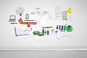 Picture of colored graphics of economicの素材 [FYI00488113]