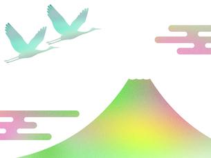 富士山と鶴のイラスト素材 [FYI00542232]