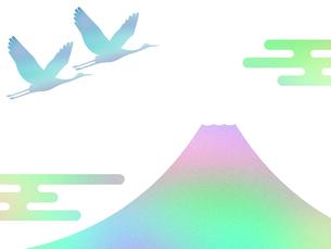 富士山と鶴のイラスト素材 [FYI00542233]