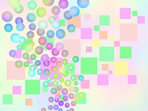 水玉模様と四角模様のイラスト素材 [FYI00551882]