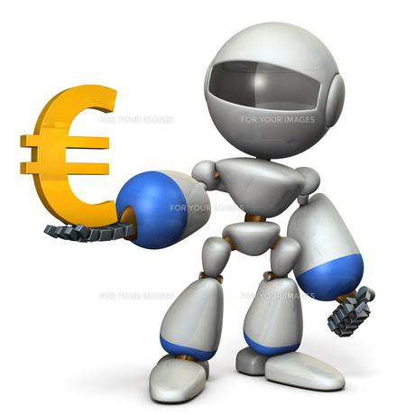 お金を管理するロボットのイラスト素材 [FYI00604748]