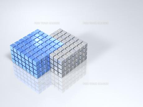 集合するキューブのイラスト素材 [FYI00613991]
