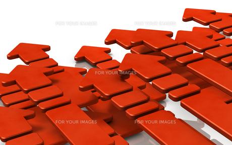 進む赤い矢印のイラスト素材 [FYI00620070]