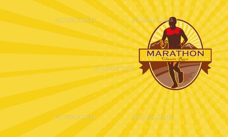 Business card Marathon Classic Run Retroの素材 [FYI00653230]