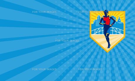 Business card Triathlete Marathon Runner Retroの素材 [FYI00653232]