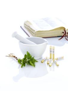 mortar nettle nature medicineの素材 [FYI00680051]