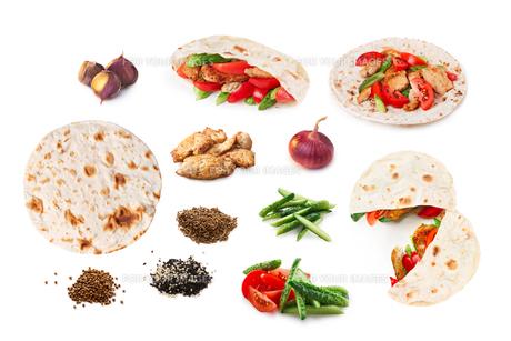 Shawarma set isolatedの素材 [FYI00792242]