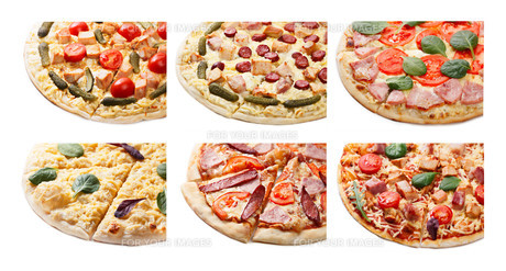 Pizza set isolatedの素材 [FYI00792721]