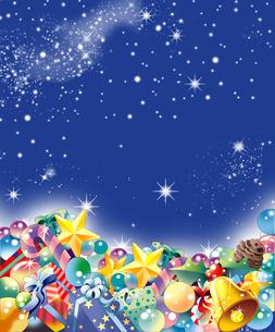 クリスマス飾りのの背景のイラスト素材 [FYI00884974]
