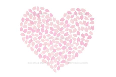 桜の花びらで作ったハートの素材 [FYI01016605]