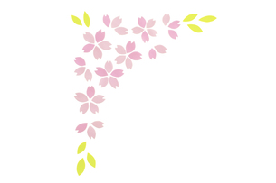 桜の花びらのフレームの素材 [FYI01016614]