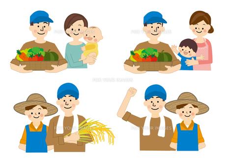 農業 男性と女性 食の安全の素材 [FYI01043812]