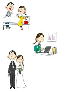 女性の一生 大学から就職から結婚の素材 [FYI01046205]
