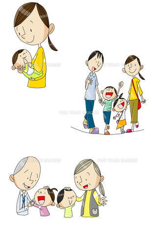 女性の一生 出産と育児と老後の素材 [FYI01046235]