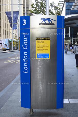 パース市街のCATのバスストップ表示の素材 [FYI01063747]