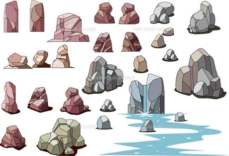 岩石のパーツ_イラスト素材のイラスト素材 [FYI01190156]
