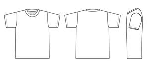 半袖Tシャツ 絵型イラストのイラスト素材 [FYI01217917]