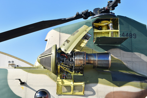 CH-47Jのエンジンの写真素材 [FYI01219074]
